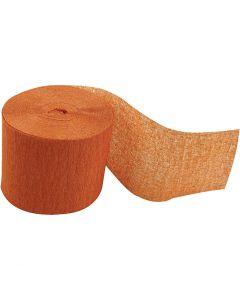 Kräppapper, rulle, L: 20 m, B: 5 cm, orange, 20 rl./ 1 förp.