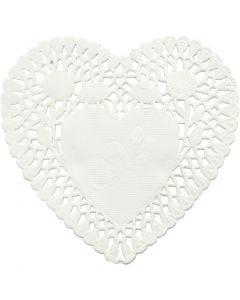 Tårtpapper, Hjärta, Dia. 10 cm, 30 st./ 1 förp.