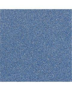 Glitterfilm, B: 35 cm, tjocklek 110 my, blå, 2 m/ 1 rl.