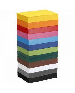 Creativ kartong, A6, 105x148 mm, 180 g, mixade färger, 12x100 ark/ 1 förp.