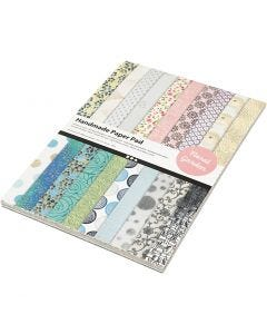 Handgjort papper, A4, 210x297 mm, 110 g, 20 ark/ 1 förp.