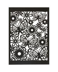 Spetskartong, 10,5x15 cm, 200 g, svart, 10 st./ 1 förp.
