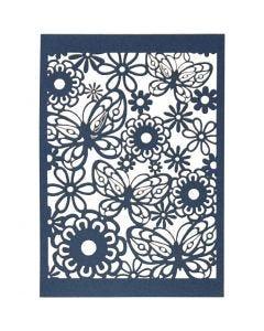 Spetskartong, 10,5x15 cm, 200 g, blå, 10 st./ 1 förp.