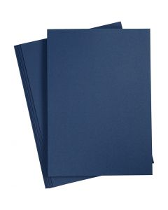 Kartong, A4, 210x297 mm, 220 g, blå, 10 st./ 1 förp.