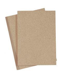 Färgad kartong, A4, 210x297 mm, 220 g, natur, 10 st./ 1 förp.