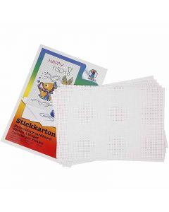 Sykartong, 3x3 hål per cm , 300 g, vit, 10 ark/ 1 förp.