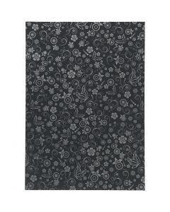 Papper, A4, 210x297 mm, 80 g, svart, 20 ark/ 1 förp.
