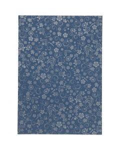 Papper, A4, 210x297 mm, 80 g, blå, 20 ark/ 1 förp.
