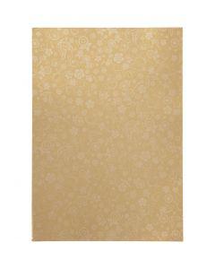 Papper, A4, 210x297 mm, 80 g, guld, 20 ark/ 1 förp.