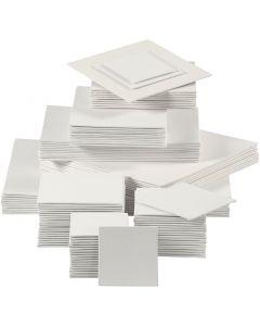 Målarplattor, 280 g, vit, 110 st./ 1 förp.