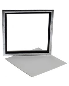Svävarram med målarplatta, stl. 25x25 cm, vit, 1 st.