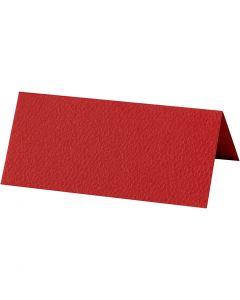 Bordskort, stl. 9x4 cm, 220 g, röd, 20 st./ 1 förp.