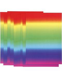 Regnbågskartong, A4, 210x297 mm, 180 g, 10 ark/ 1 förp.