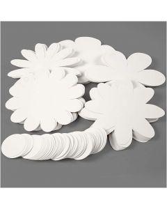 Blommor, Dia. 20 cm, 400 g, vit, 5x20 st./ 1 förp.