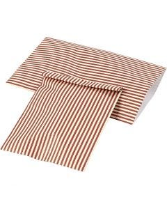 Papperspåsar, H: 21 cm, B: 11,5 cm, 80 g, 12 st./ 1 förp.