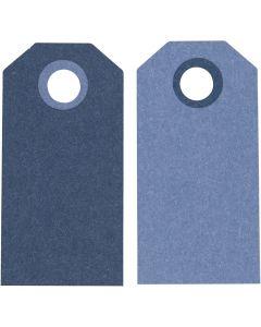 Manillamärken, stl. 6x3 cm, 250 g, mörkblå/ljusblå, 20 st./ 1 förp.