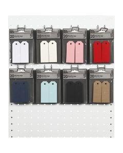 Manillamärken, stl. 3x8 cm, 220 g, mixade färger, 8x10 förp./ 1 förp.
