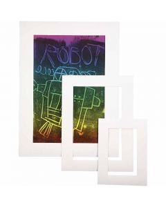 Passepartoutramar, A3,A4,A5, tjocklek 0,4 mm, 270 g, vit, 75 st./ 1 förp.