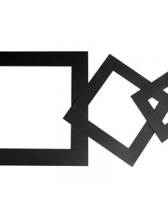Passepartoutramar, tjocklek 0,4 mm, 270 g, svart, 75 st./ 1 förp.