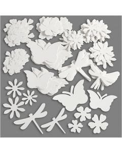 Sommarfigurer, stl. 4,5-12 cm, 240 g, vit, 362 st./ 1 förp.