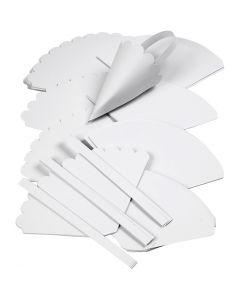 Strutar, H: 13 cm, Dia. 8 cm, vit, 240 st./ 1 förp.