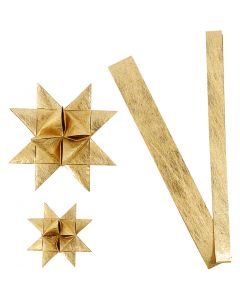 Stjärnstrimlor, L: 44+78 cm, Dia. 6,5+11,5 cm, B: 15+25 mm, guld, 32 strimlor/ 1 förp.