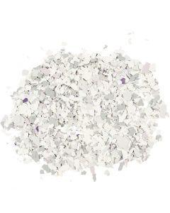 Terrazzo flakes, ljusgrå, 90 g/ 1 burk