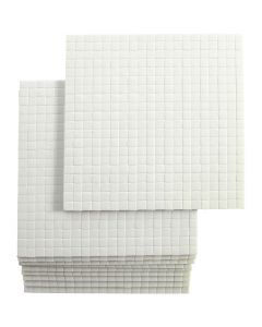 Fästkuddar 3D, stl. 5x5 mm, tjocklek 3 mm, 10x400 st./ 1 förp.