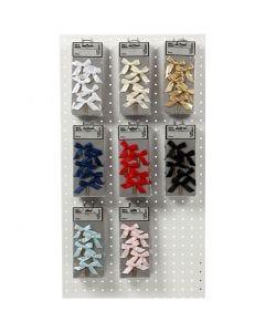 Gem, stl. 40x70 mm, mixade färger, 8x10 förp./ 1 förp.