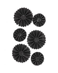 Rosetter, Dia. 35+50 mm, svart, 6 st./ 1 förp.