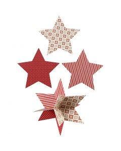 3D Stjärna, Dia. 15 cm, 300 g, 3 st./ 1 förp.