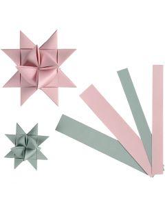 Stjärnstrimlor, B: 15+25 mm, Dia. 6,5+11,5 cm, 60 strimlor/ 1 förp.
