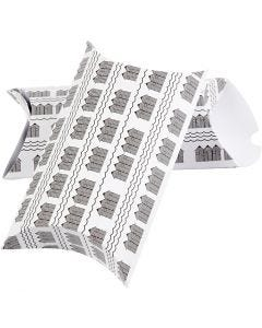 Askar, badhus, stl. 23,9x15x6 cm, 300 g, svart, vit, 3 st./ 1 förp.