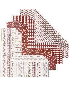 Origamipapper, stl. 15x15 cm, 80 g, röd, 40 ark/ 1 förp.