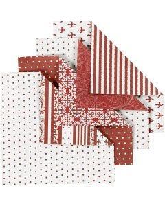 Origamipapper, stl. 10x10 cm, 80 g, 50 mix. ark/ 1 förp.