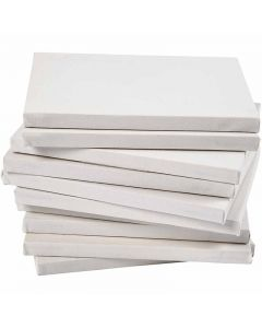 Målarduk, djup 1,6 cm, A5, stl. 14,8x21 cm, 280 g, vit, 80 st./ 1 förp.