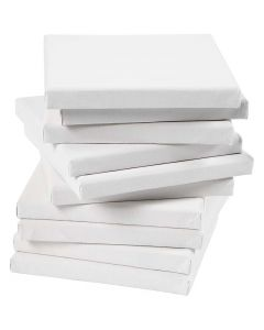 Målarduk, djup 1,6 cm, stl. 15x15 cm, 280 g, vit, 80 st./ 1 förp.