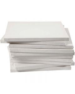 Målarduk, stl. 30x30 cm, 280 g, vit, 40 st./ 1 förp.
