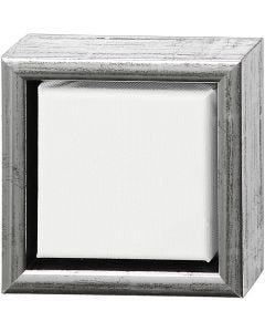 ArtistLine Canvas med ram, djup 3 cm, stl. 14x14 cm, vit, antiksilver, 1 st.