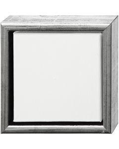ArtistLine Canvas med ram, stl. 19x19 cm, antiksilver, vit, 1 st.