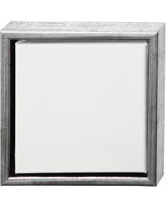 ArtistLine Canvas med ram, stl. 24x24 cm, 360 g, antiksilver, vit, 1 st.