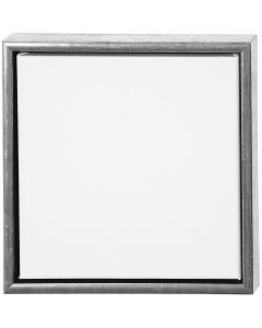 ArtistLine Canvas med ram, djup 3 cm, stl. 34x34 cm, vit, antiksilver, 1 st.