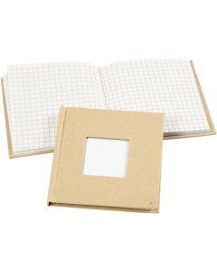 Kinabok, stl. 10x10 cm, 60 g, brun, 1 st.