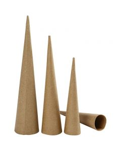 Höga strutar, H: 20-25-30 cm, Dia. 4-5-6 cm, 3 st./ 1 förp.