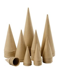 Pappstrutar, H: 8-20 cm, Dia. 4-8 cm, 50 st./ 1 förp.