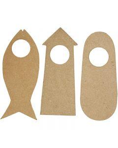 Dörrskyltar, stl. 10x25 cm, 6 st./ 1 förp.