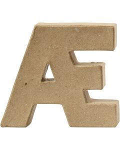 Pappbokstav, Æ, H: 10 cm, tjocklek 2 cm, 1 st.