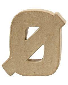 Pappbokstav, Ø, H: 10 cm, tjocklek 2 cm, 1 st.