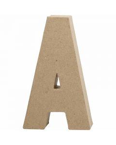 Pappbokstav, A, H: 20,5 cm, B: 11,8 cm, tjocklek 2,5 cm, 1 st.