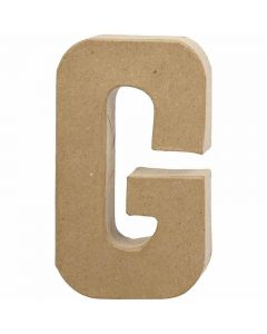 Pappbokstav, G, H: 20,5 cm, B: 11,5 cm, tjocklek 2,5 cm, 1 st.